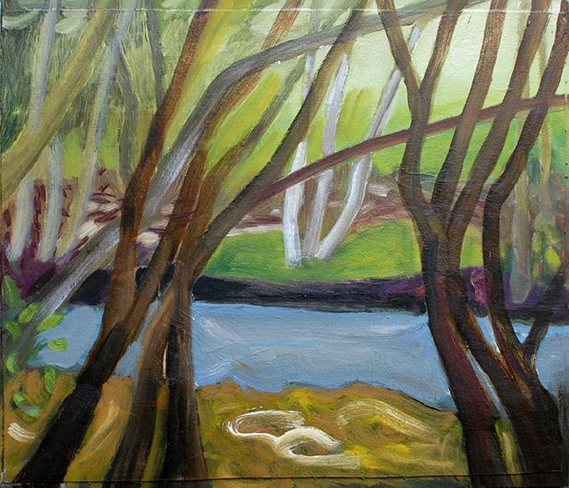Maya Andersson, Sur le chemin de la Lune, Peinture en période de confinement, 17.03-11.05 2020