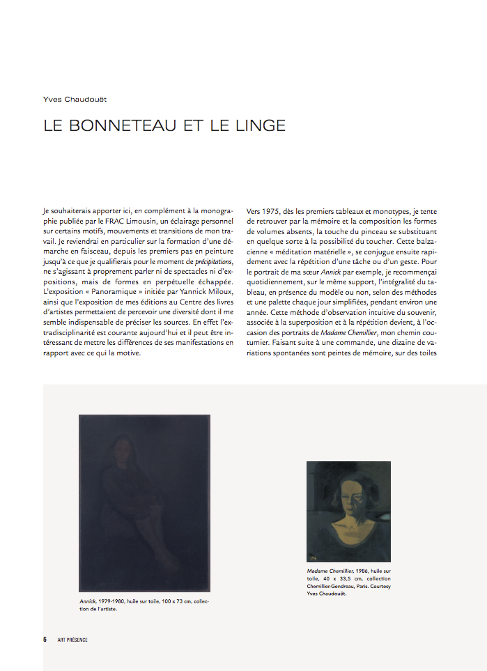 Yves Chaudouët - Art Presence #66