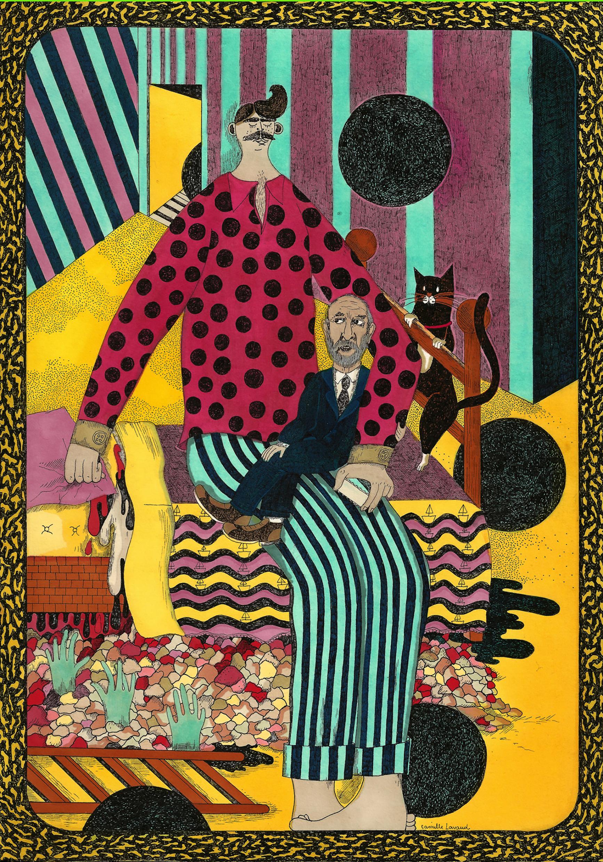 Camille Lavaud, Jean-Pierre Marielle et le dormeur, 2013